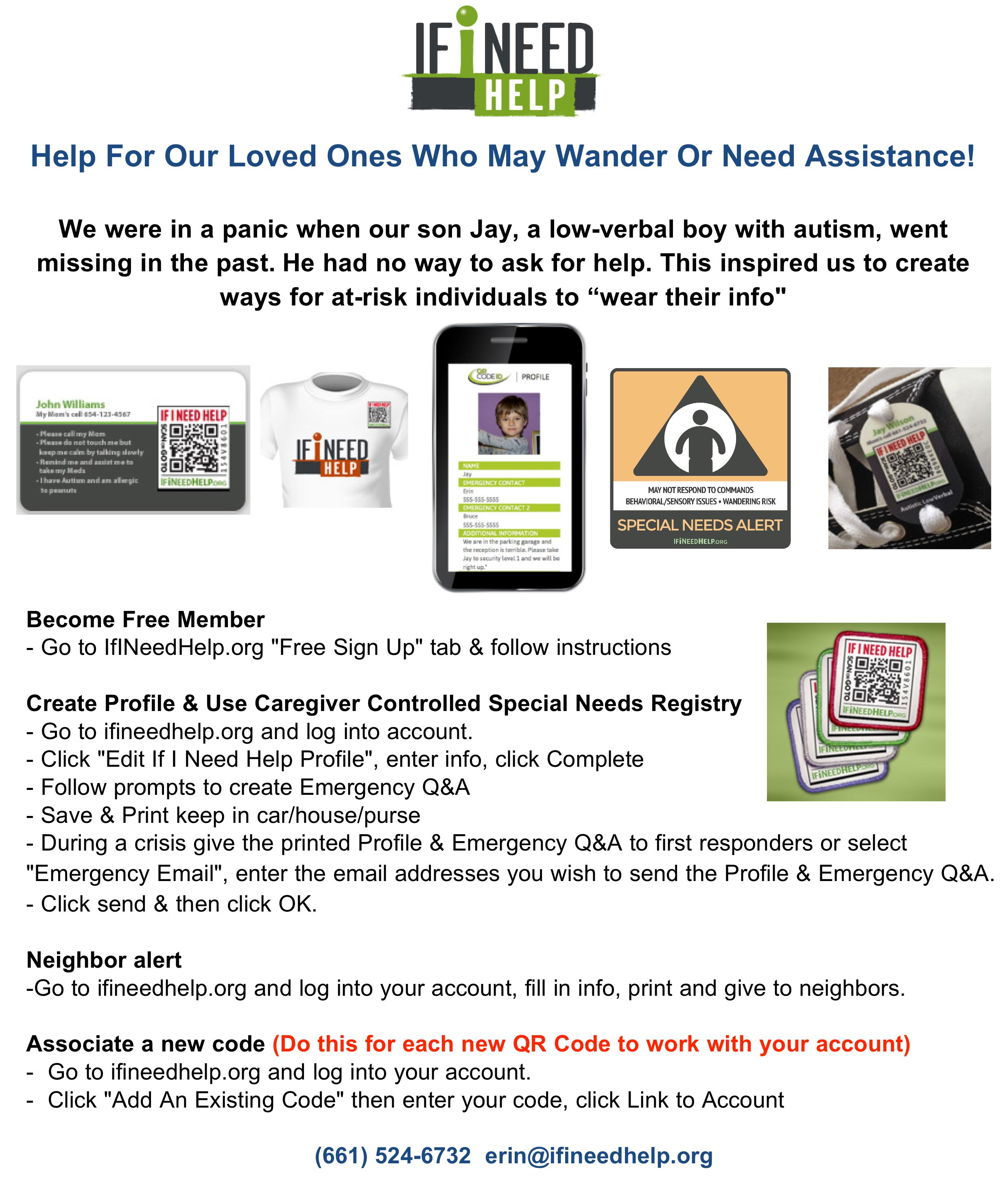 if i need help blog | help for our loved ones who may wander