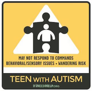 Teen with Autism Sticker