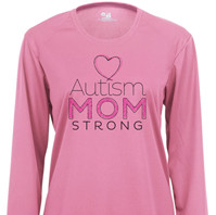 Autism Mom Strong 3 Long Sleeve